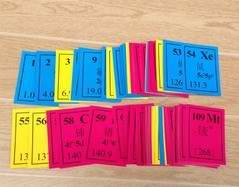 元素学习卡 J26018 门捷列夫元素周期表 中学化学 教学仪器