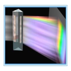 (光學)三棱镜直角k9材质 学生实验器材 看彩虹光的色散儿童科普