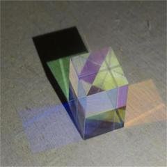 (光學)合色棱镜无瑕疵 六面亮20x20x20mm 物理实验 光的传播 投影仪原理
