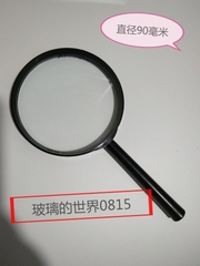 (光學)放大镜 直径90毫米 放大3到5倍 带塑料柄 棱镜