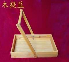 实验室 木质手提篮 木提蓝 试剂 提篮 实验室用品 教学仪器