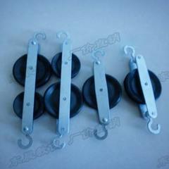 滑轮组 两个单滑轮 两串 四个一套 力学实验器材