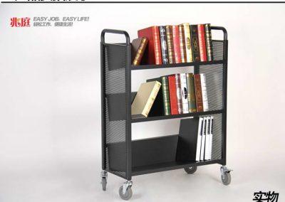 (B)圖書館書車三層V型小推車RCA-3S-LIB11